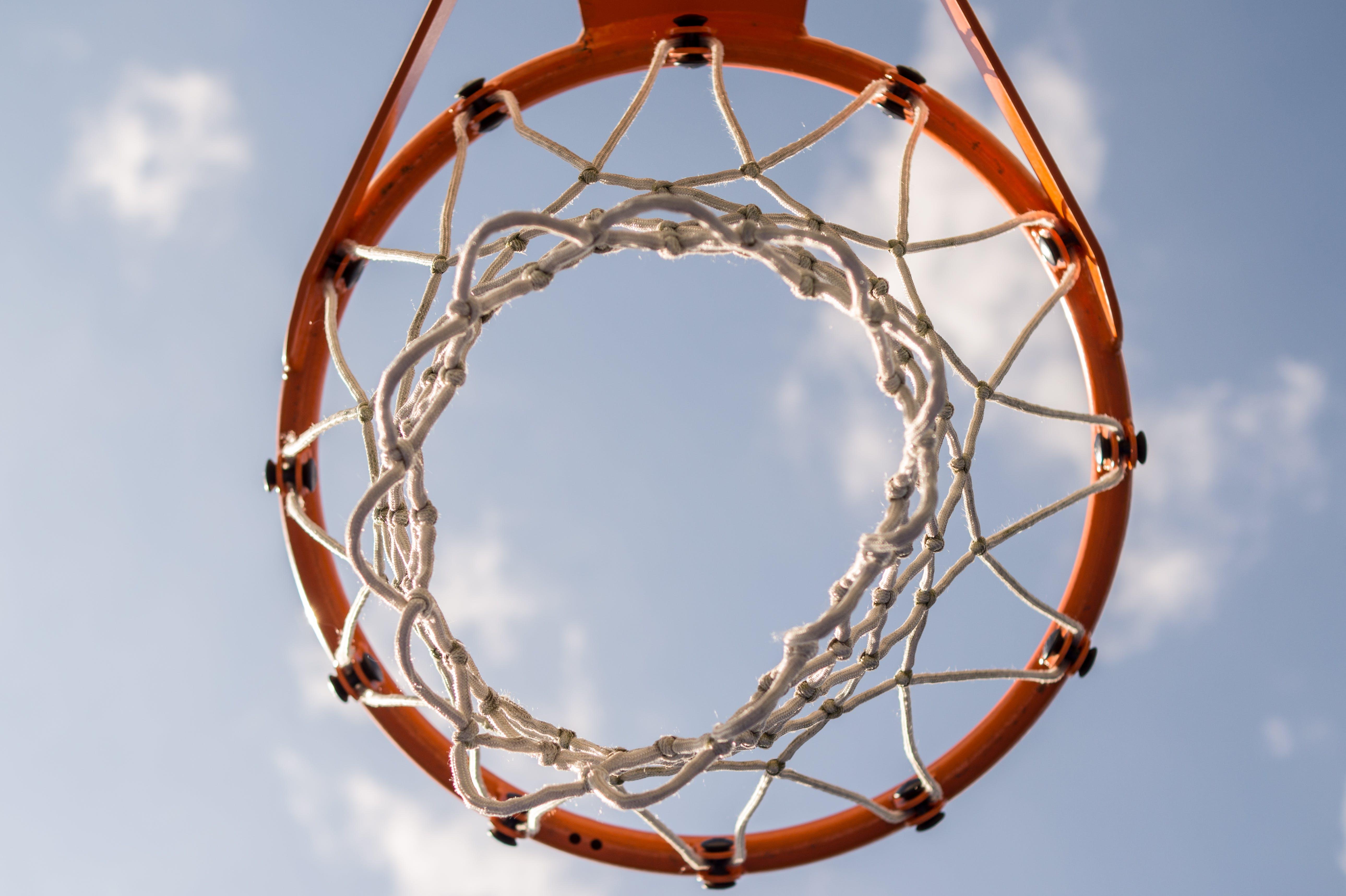 Orange Basketball Hoop